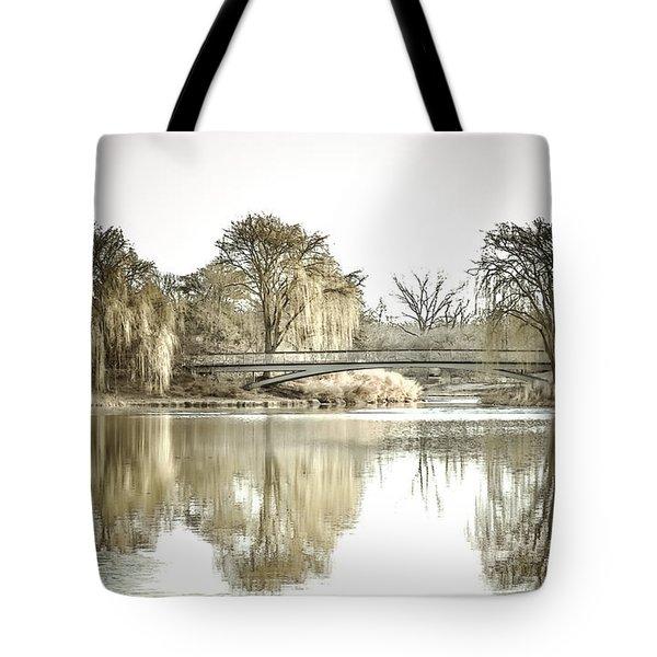 Winter Reflection Landscape Tote Bag