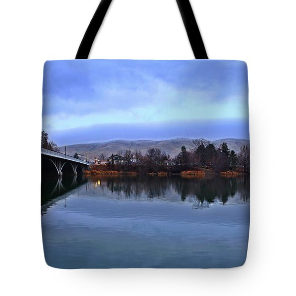Tote Bag featuring the photograph Winter Reflection by Lynn Hopwood