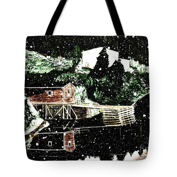 Winter Reflections Tote Bag by Barbara Griffin