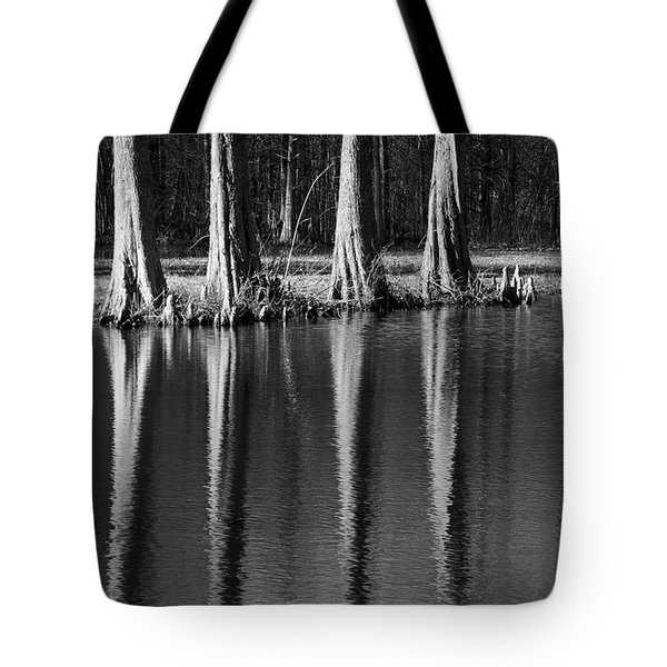 Winter Reflections - Cypress Tree Art Print Tote Bag by Jane Eleanor Nicholas