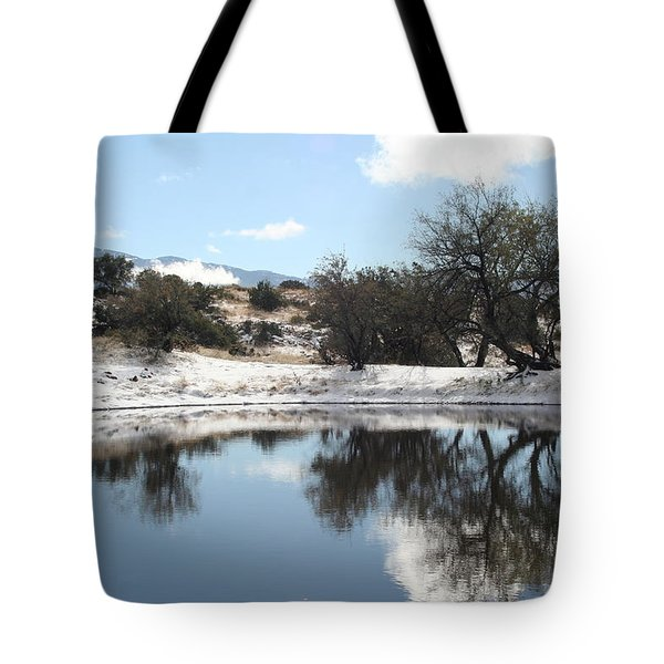 Winter Reflections Tote Bag by David S Reynolds