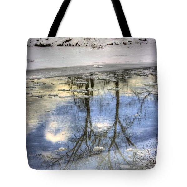Winter Reflections Tote Bag by John  Greaves