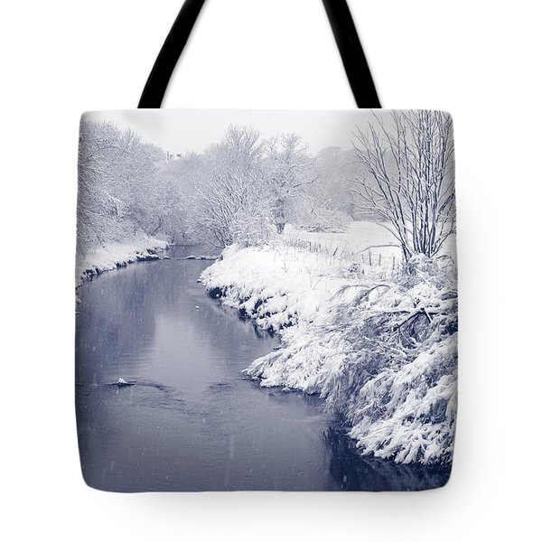 Tote Bag featuring the photograph Winter River by Liz Leyden