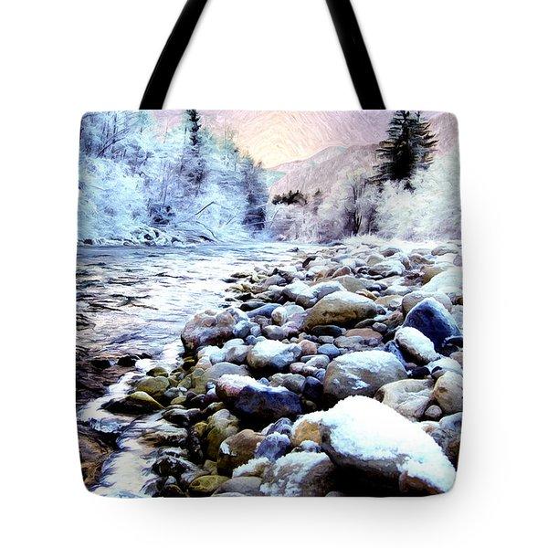 Winter River Tote Bag