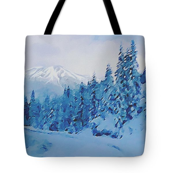 Tote Bag featuring the painting Winter Road by Sophia Schmierer