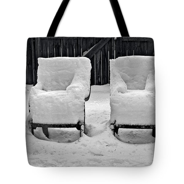 Winter Romance Tote Bag by Christine Till