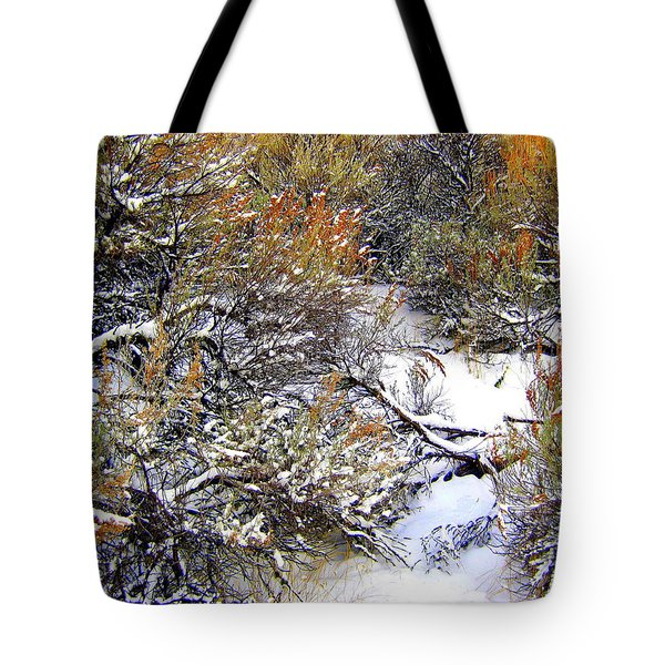 Winter Sage Tote Bag by Kathy Bassett