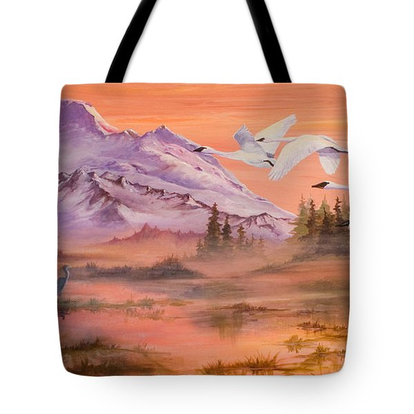 Winter Sanctuary Tote Bag by Sherry Shipley