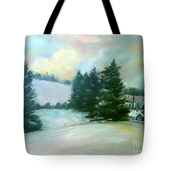 Winter Sang In The Chimneys Tote Bag