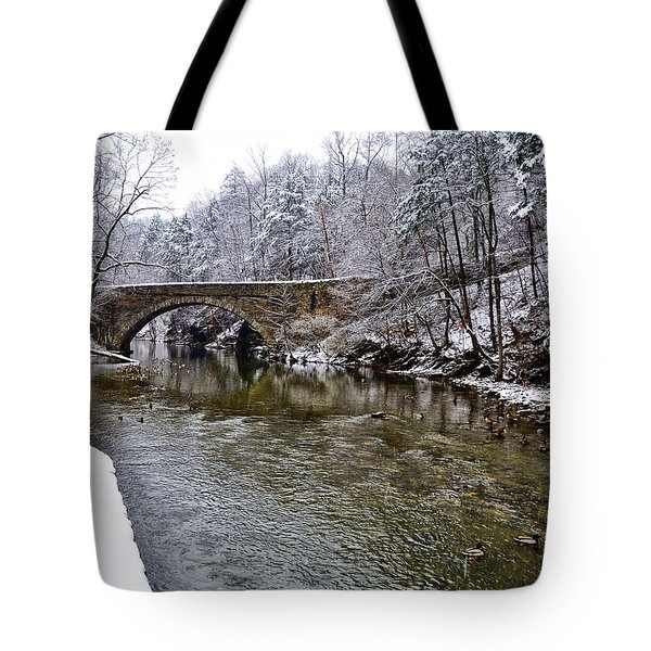 Winter Scene At Valley Green Tote Bag by Bill Cannon