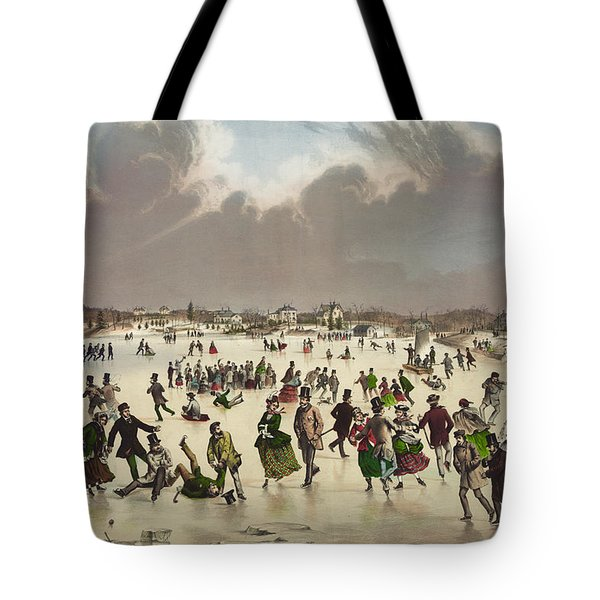 Winter Scene Circa 1859 Tote Bag by Aged Pixel