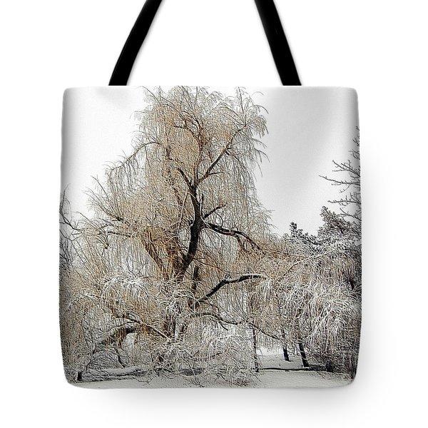 Winter Scene Tote Bag by Kathleen Struckle
