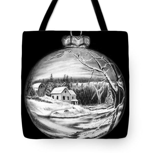 Winter Scene Ornament Tote Bag by Peter Piatt