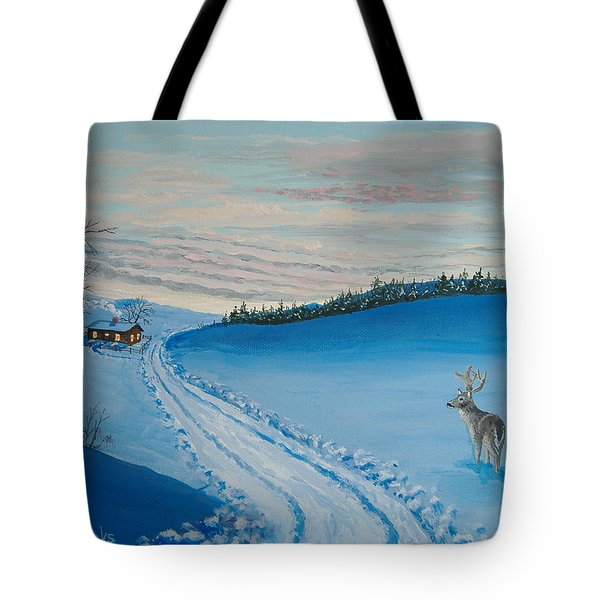 Winter Sentinel Tote Bag by Norm Starks