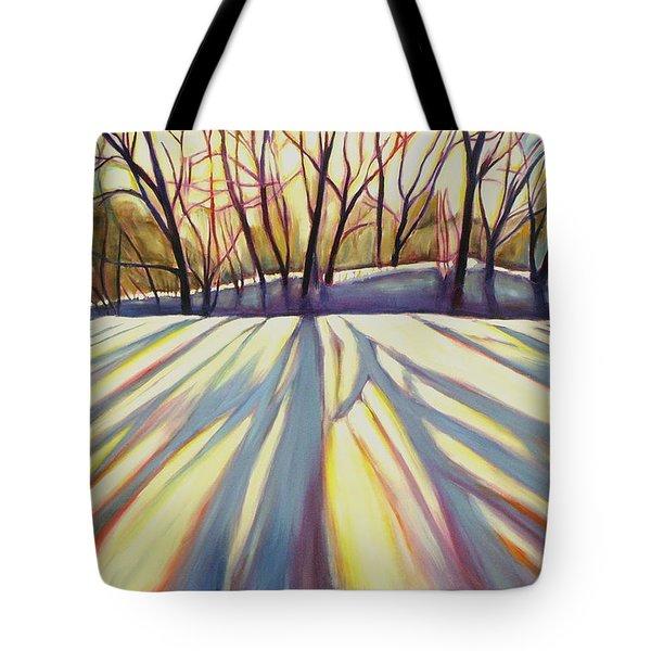 Winter Shadows Tote Bag by Sheila Diemert