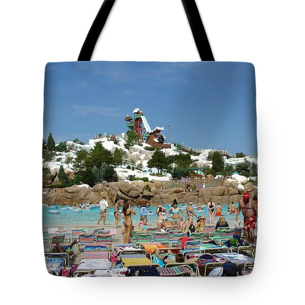 Tote Bag featuring the photograph Winter Shore Line by David Nicholls