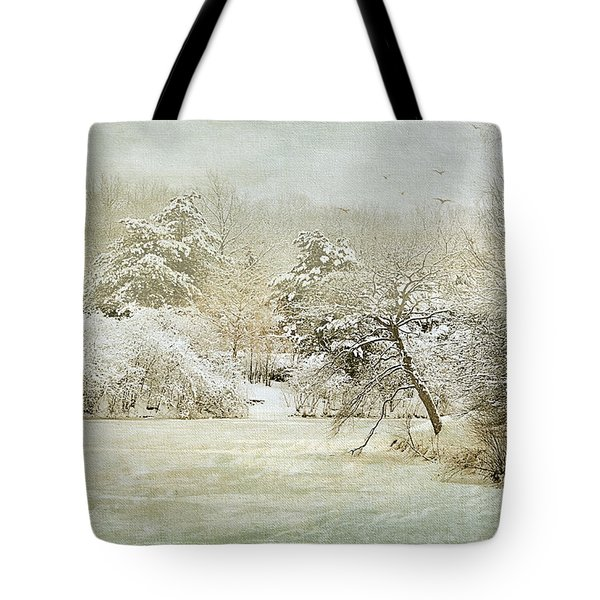 Winter Silence Tote Bag by Julie Palencia