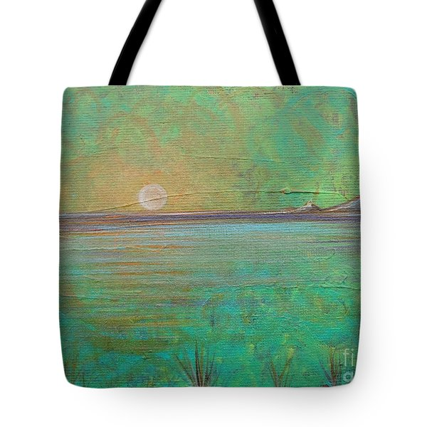 Tote Bag featuring the painting Winter Solitude 7 by Jacqueline Athmann