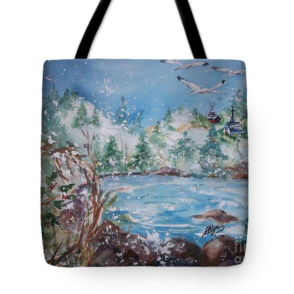 Winter Solstice Tote Bag by Ellen Levinson