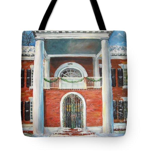 Winter Spirit In Dahlonega Tote Bag