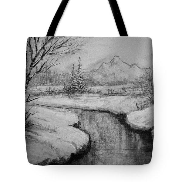 Winter Stillness Tote Bag by C Steele