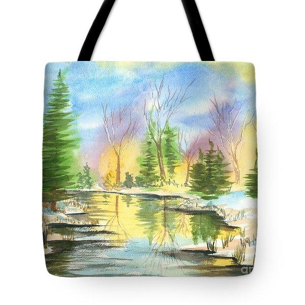 Winter Stillness Tote Bag