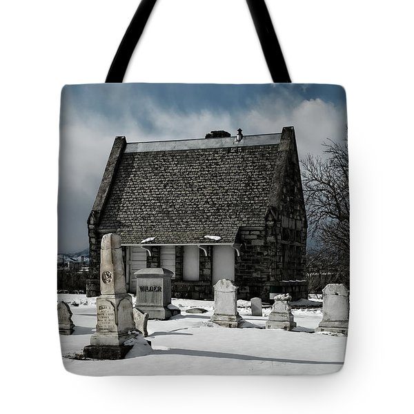 Winter Stone House Tote Bag by Stephen  Johnson
