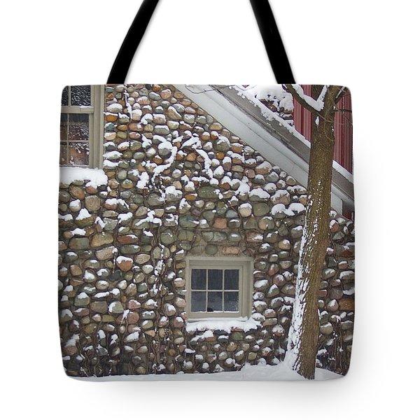 Winter Stone Pattern Tote Bag by Randy Pollard