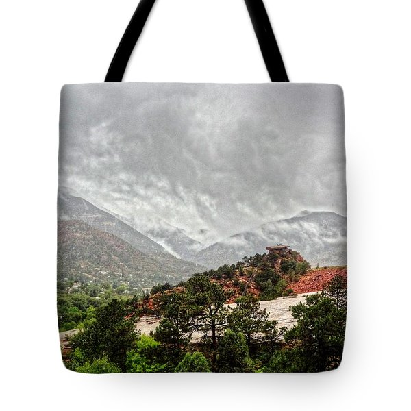 Tote Bag featuring the photograph Winter Storm On A Summer Day by Lanita Williams