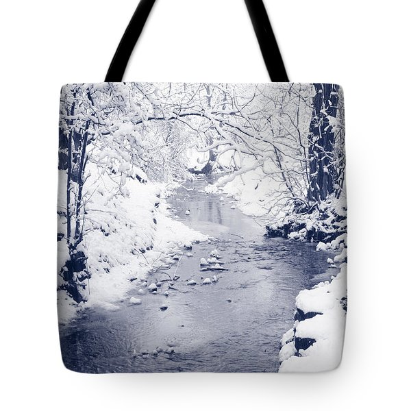 Tote Bag featuring the photograph Winter Stream by Liz Leyden