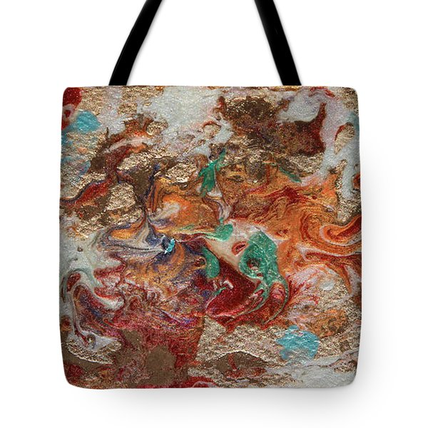 Winter Sunrise Abstract Painting Tote Bag
