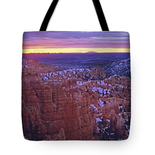 Tote Bag featuring the photograph Winter Sunrise At Bryce Canyon by Susan Rovira