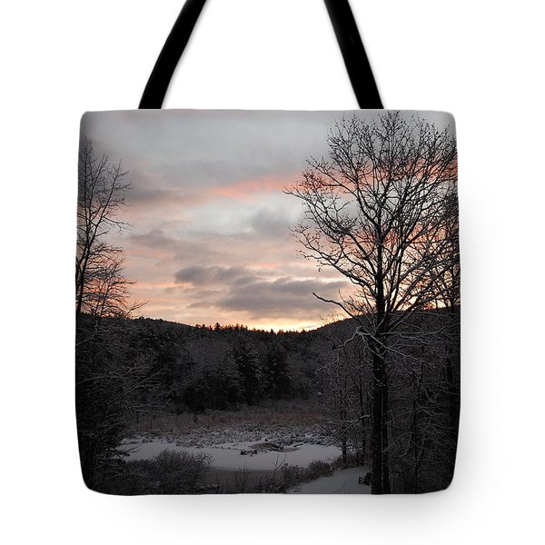 Tote Bag featuring the photograph Winter Sunrise by Mim White