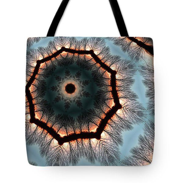 Winter Sunset Tote Bag by Andy Prendy