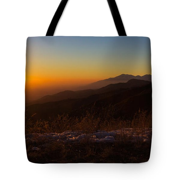 Winter Sunset Tote Bag by Heidi Smith