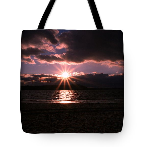 Tote Bag featuring the photograph Winter Sunset by Karen Silvestri