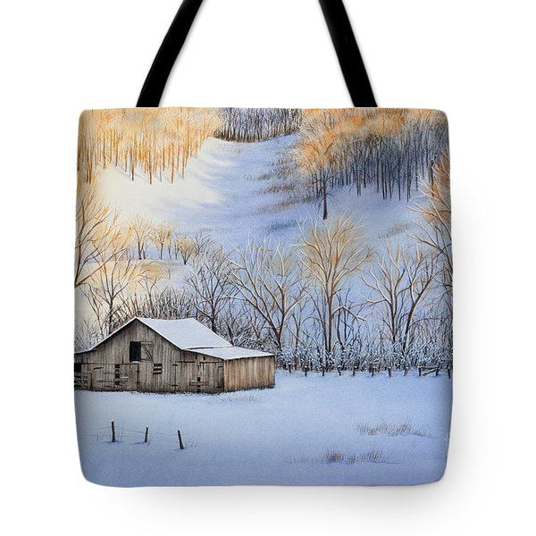 Winter Sunset Tote Bag by Michelle Wiarda