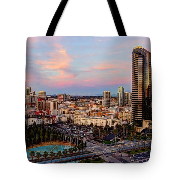 Tote Bag featuring the photograph Winter Sunset San Diego by Heidi Smith