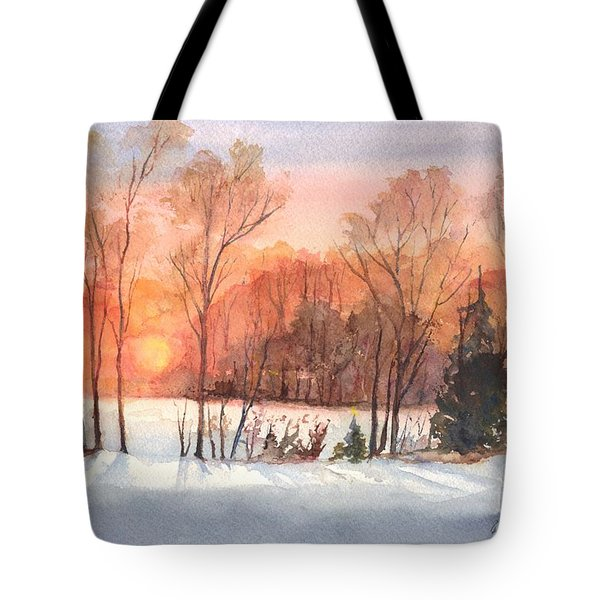A Hedgerow Sunset Tote Bag