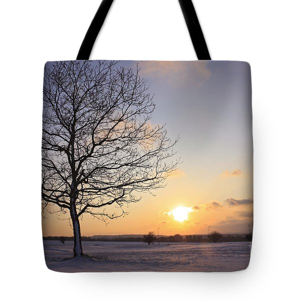 Winter Sunset Uk Tote Bag