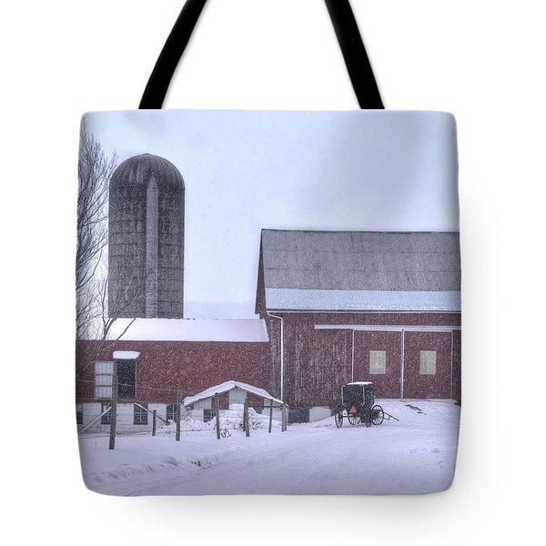 Winter Time Garrett County Maryland Tote Bag by Dan Friend