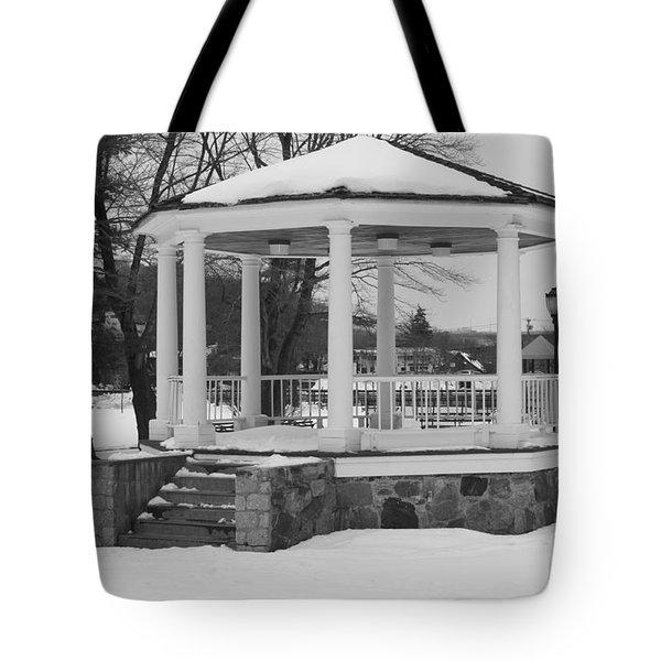 Winter Time Gazebo Tote Bag by John Telfer
