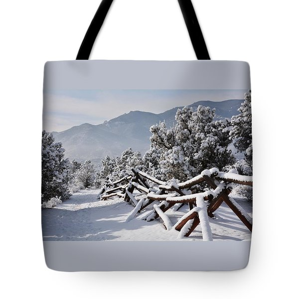Winter Trail Beckons Tote Bag
