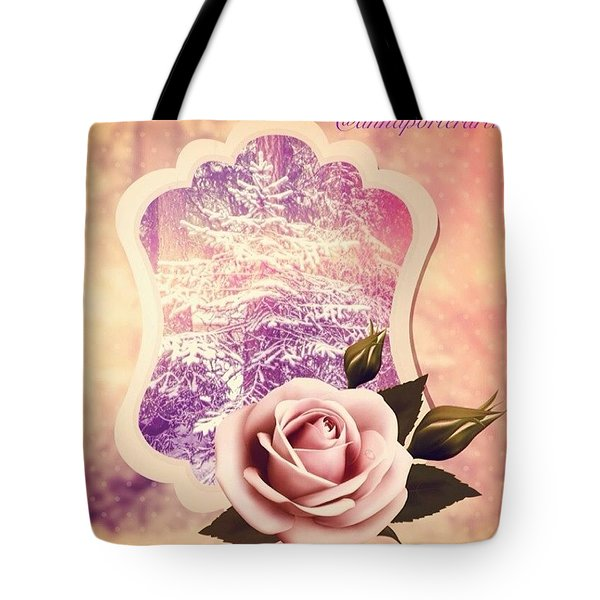Winter Tree And A Rose For Thee Tote Bag