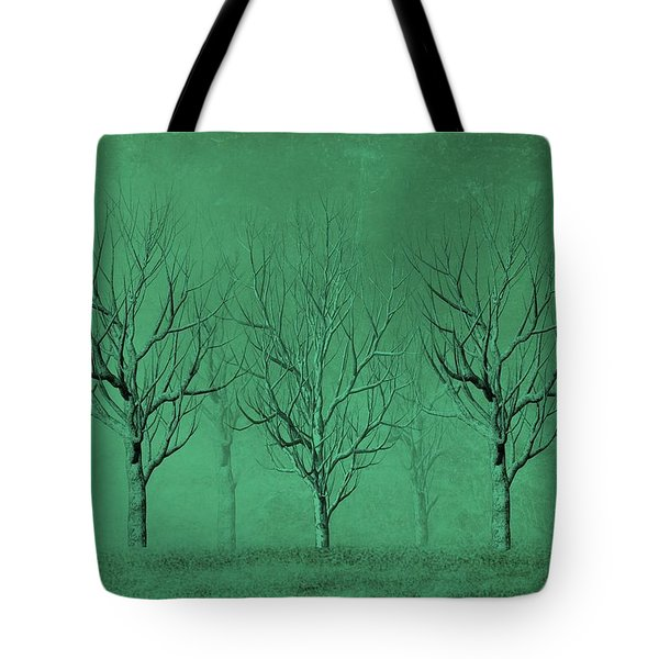 Winter Trees In The Mist Tote Bag