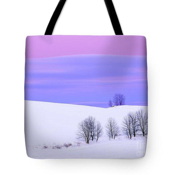 Winter Twilight Landscape Tote Bag