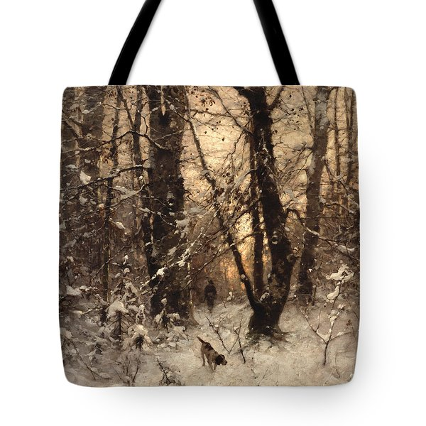 Winter Twilight Tote Bag by Ludwig Munthe