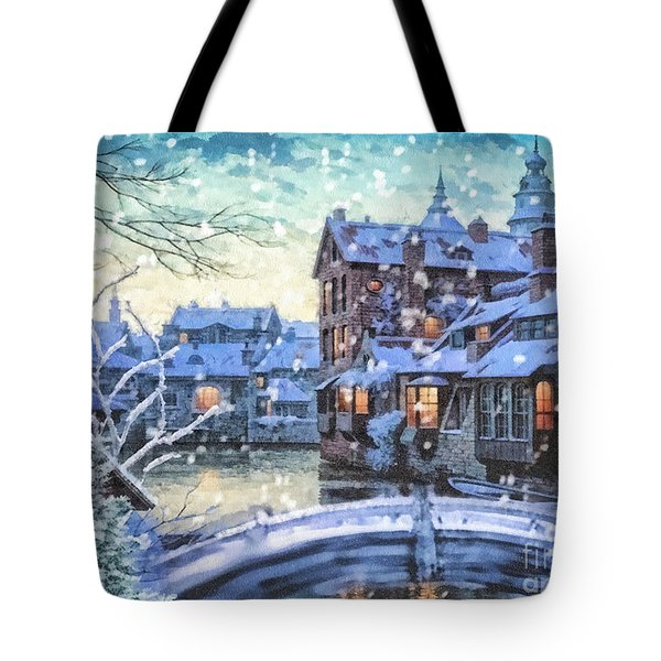 Winter Twilight Tote Bag