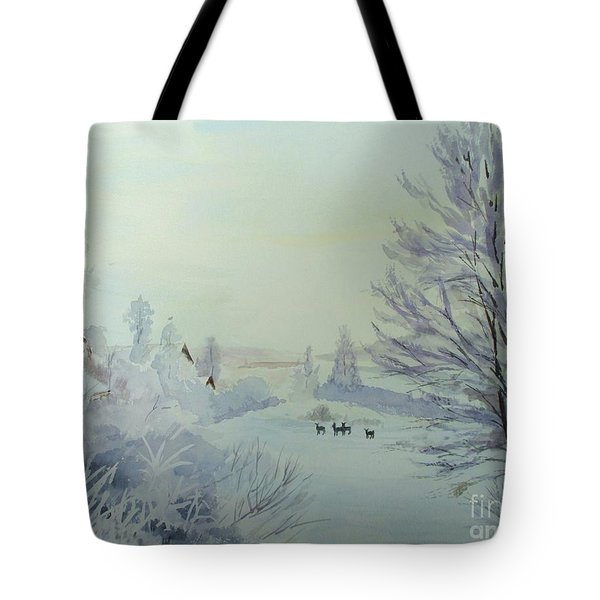 Winter Visitors Tote Bag