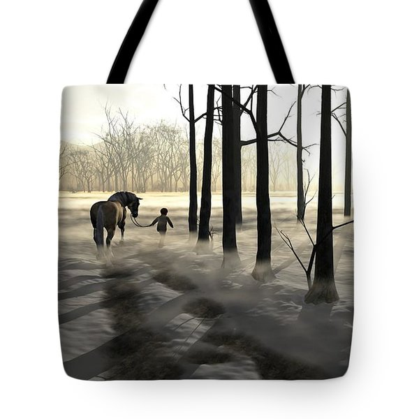 Winter Walk Tote Bag by Cynthia Decker